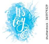 vector watercolor blue sticker... | Shutterstock .eps vector #365979329