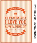 happy valentines day poster    Shutterstock .eps vector #365981363