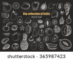 big collection of fruits on... | Shutterstock .eps vector #365987423