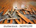 old parquet restoration   Shutterstock . vector #365991299