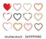 a lot of different heart shape   Shutterstock .eps vector #365999480