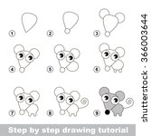 drawing tutorial. how to draw a ... | Shutterstock .eps vector #366003644