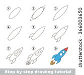drawing tutorial. how to draw a ... | Shutterstock .eps vector #366003650
