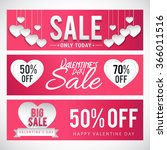 sale header or banner set with... | Shutterstock .eps vector #366011516