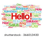 hello word cloud in different... | Shutterstock .eps vector #366013430