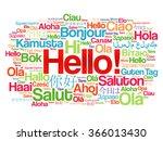 hello word cloud in different... | Shutterstock .eps vector #366013430