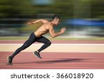sprinter leaving  on the... | Shutterstock . vector #366018920