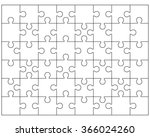 white puzzle  vector... | Shutterstock .eps vector #366024260