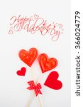 candy heart on a white... | Shutterstock . vector #366024779