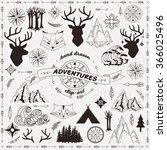 hand drawn adventures clip art | Shutterstock .eps vector #366025496