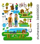 vector illustration of... | Shutterstock .eps vector #366030020