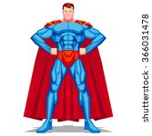vector superhero posing... | Shutterstock .eps vector #366031478