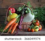 Fresh Vegetables In A Basket ...