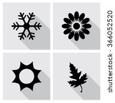 season icons vector... | Shutterstock .eps vector #366052520