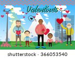 happy valentines day greeting... | Shutterstock .eps vector #366053540