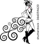 cabaret girl | Shutterstock .eps vector #366054620