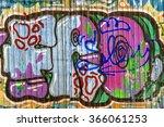 beautiful street art graffiti.... | Shutterstock . vector #366061253