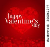 valentines day red vector... | Shutterstock .eps vector #366061349
