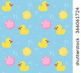 seamless pattern with yellow... | Shutterstock .eps vector #366061724