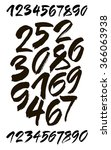 vector set of calligraphic... | Shutterstock .eps vector #366063938