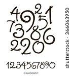 vector set of calligraphic...   Shutterstock .eps vector #366063950