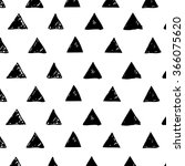 hand drawn triangles shapes... | Shutterstock .eps vector #366075620