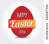 easter badge egg badge label | Shutterstock .eps vector #366087566