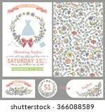 wedding design template set...   Shutterstock . vector #366088589
