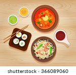 illustration with different... | Shutterstock . vector #366089060