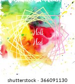 holi watercolor different... | Shutterstock .eps vector #366091130