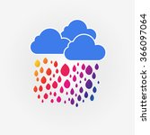 colorful happy rain and three... | Shutterstock .eps vector #366097064