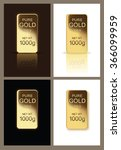 shining gold bar with... | Shutterstock .eps vector #366099959