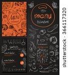 restaurant food menu vintage... | Shutterstock .eps vector #366117320