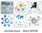 collection of infographic... | Shutterstock .eps vector #366118958