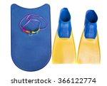 swim fins  kick board and... | Shutterstock . vector #366122774