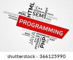 programming word cloud  tag... | Shutterstock .eps vector #366125990