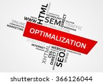 optimalization word cloud  tag... | Shutterstock .eps vector #366126044