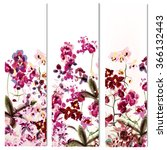 floral vertical brochures set... | Shutterstock .eps vector #366132443