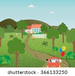 the idyllic rural images. a