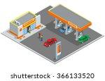 petrol station. refilling ... | Shutterstock .eps vector #366133520