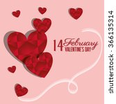 love and valentines day  | Shutterstock .eps vector #366135314