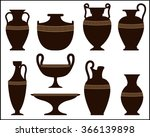 Silhouettes Of Ancient Vases...