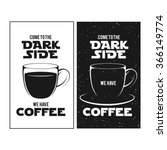 dark side of coffee print....