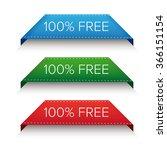 100  free corner ribbon | Shutterstock .eps vector #366151154