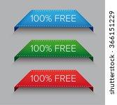 100  free corner ribbon | Shutterstock .eps vector #366151229