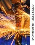 industrial welding automotive... | Shutterstock . vector #366152330