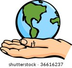 the world in the palm of a hand | Shutterstock .eps vector #36616237