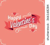 logo design happy  valentines... | Shutterstock .eps vector #366168284