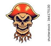 skull pirate vector illustration | Shutterstock .eps vector #366175130