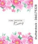 romantic invitation. wedding ... | Shutterstock . vector #366175328